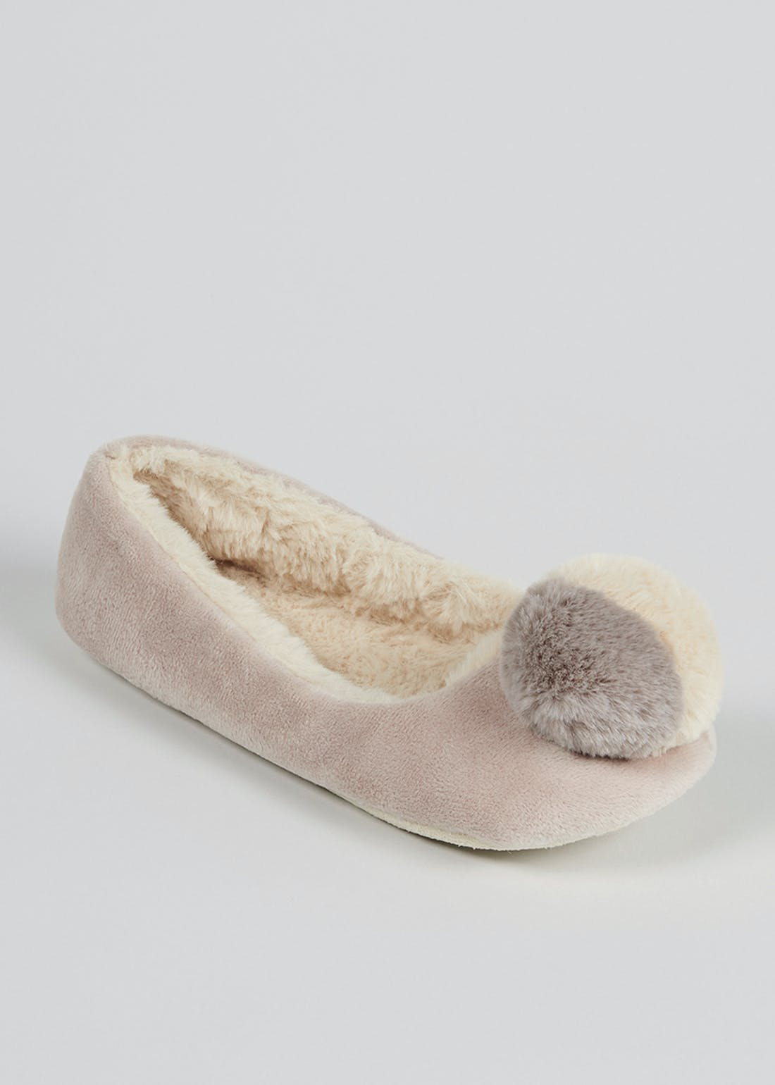 Mink Faux Fur Ballet Slippers