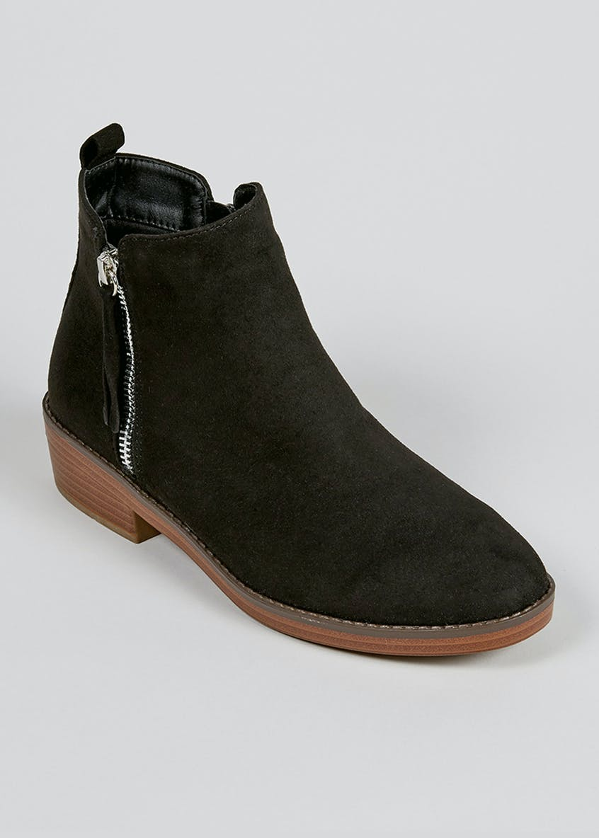 Wife Fit Side Zip Ankle Boot