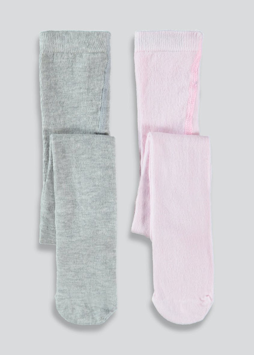 Girls 2 Pack Knitted Tights (Newborn-23mths)