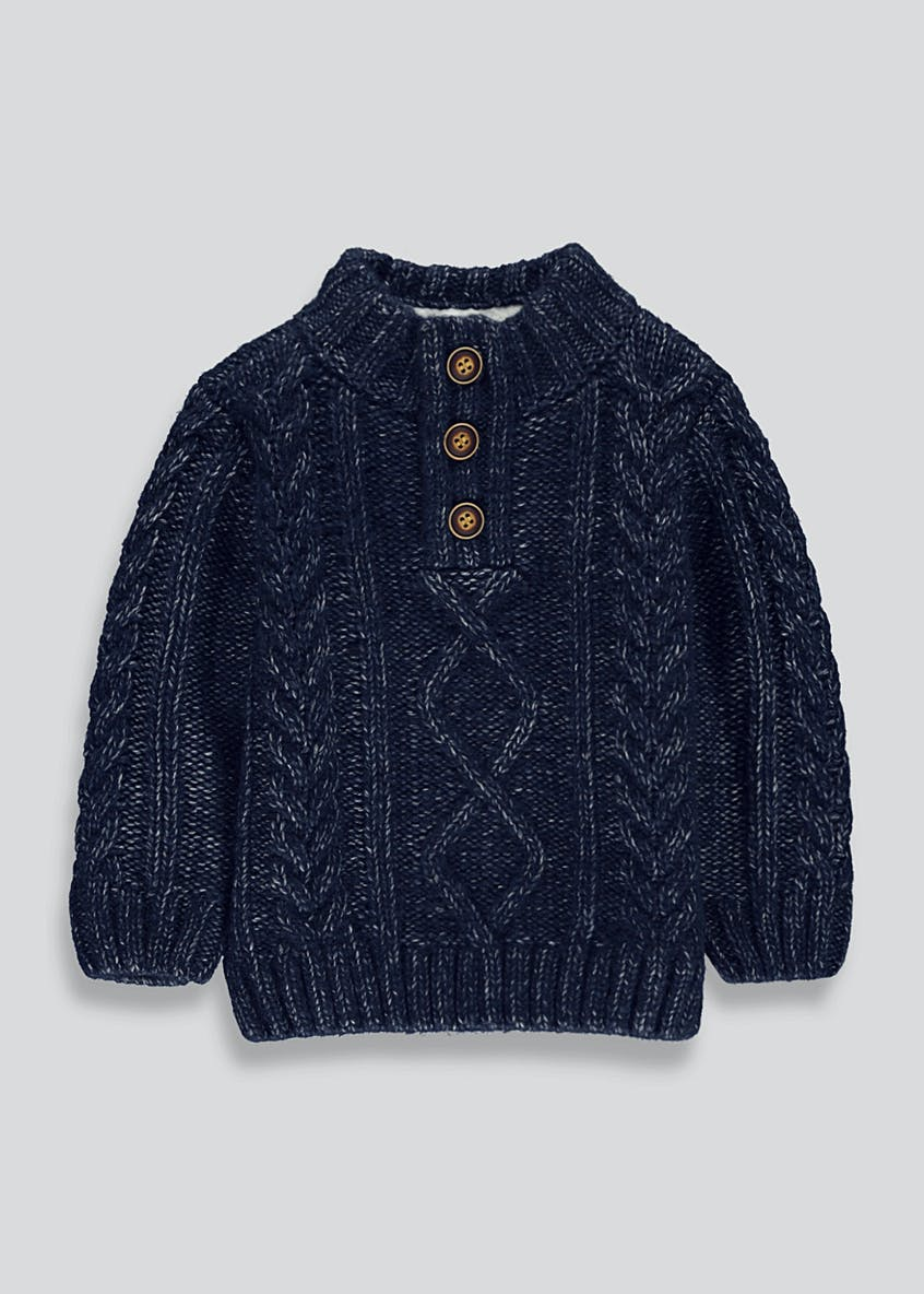 Boys Cable Knit Button Jumper (9mths-6yrs)