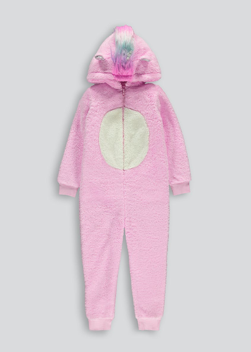 Girls Unicorn Fleece Onesie (4-13yrs)