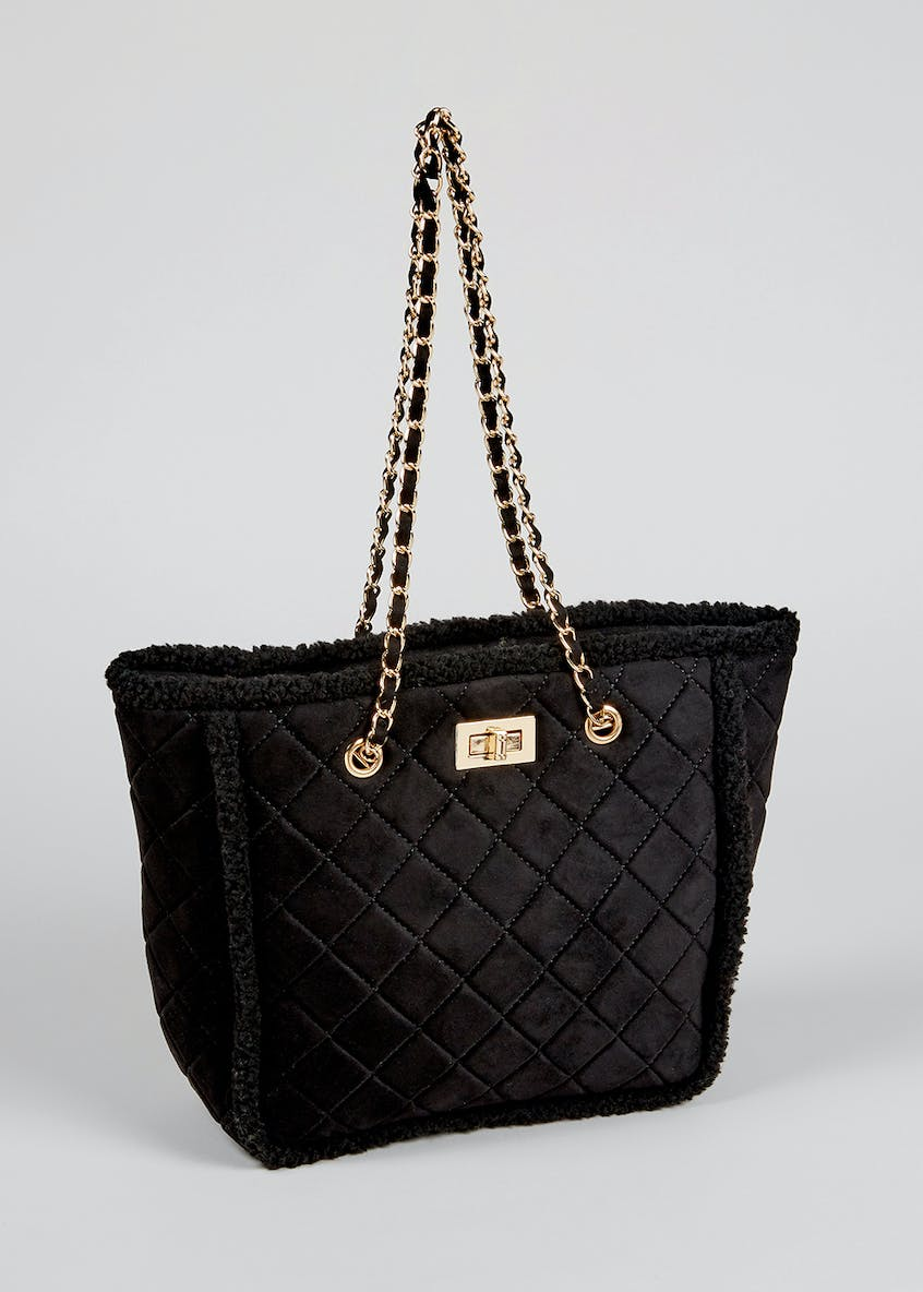 Quilted Chain Strap Tote Bag