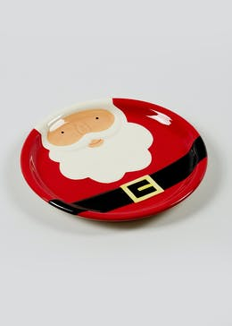 Santa Belly Embossed Side Plate (15cm)