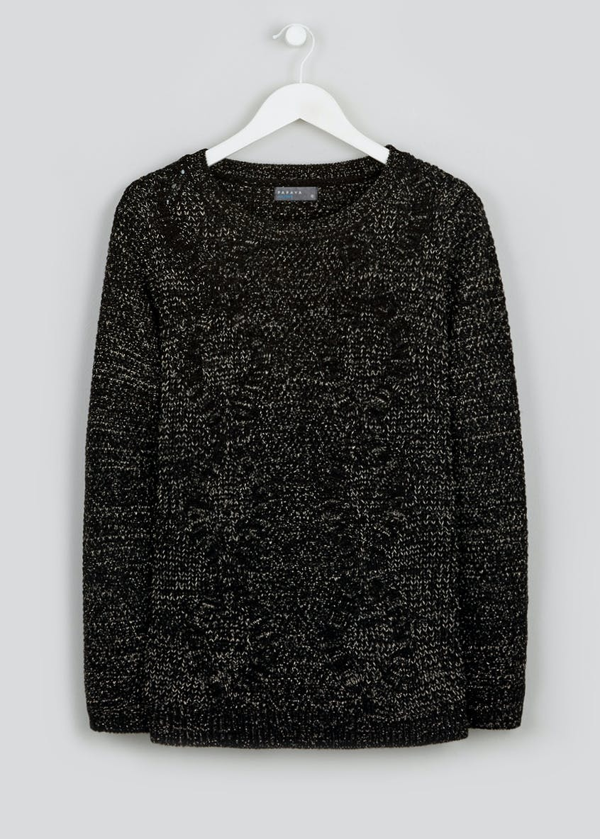 Sparkle Cable Knit Jumper