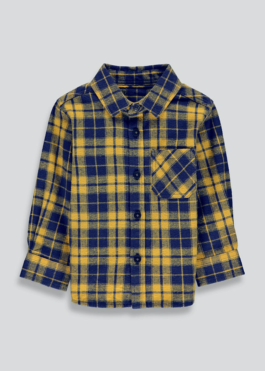 Boys Brushed Long Sleeve Checked Shirt (9mths-6yrs)