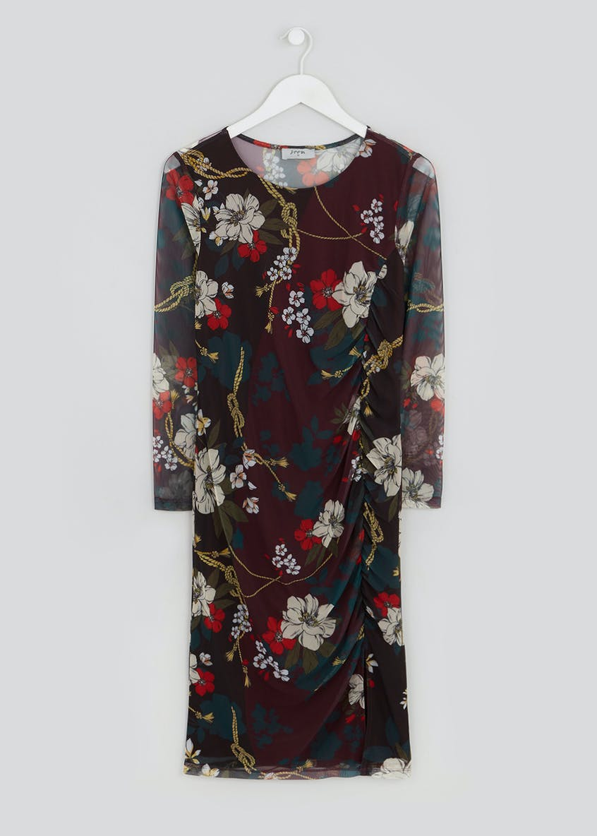 Soon Long Sleeve Floral Bodycon Dress