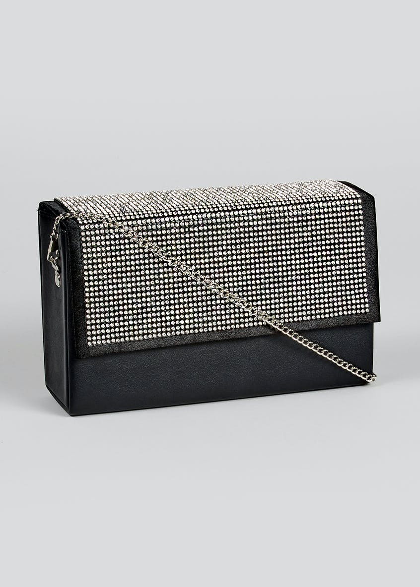 Diamante Cross-Body Clutch Bag