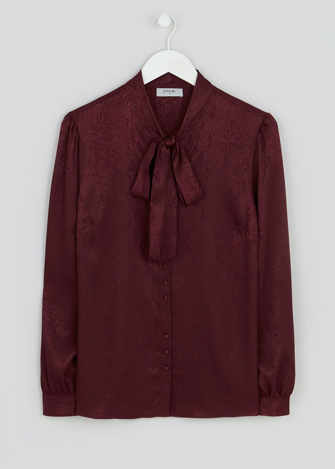 Soon Long Sleeve Pussybow Button Blouse