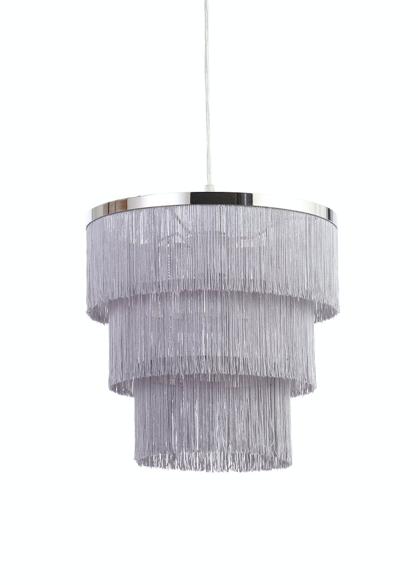 Zulu Fringe Easy Fit Lamp Shade (H30cm x W30cm)