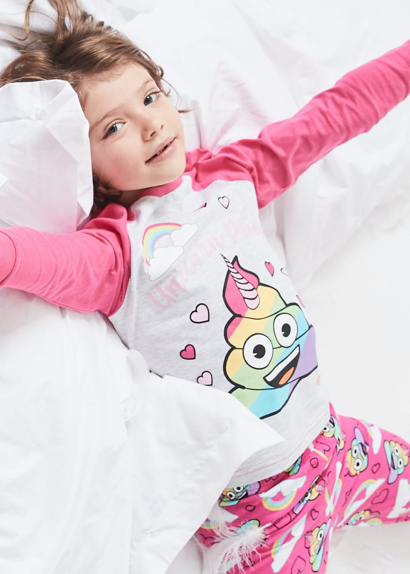 Kids Emoji Unicorn Rainbow Poop Pyjamas (6-13yrs)