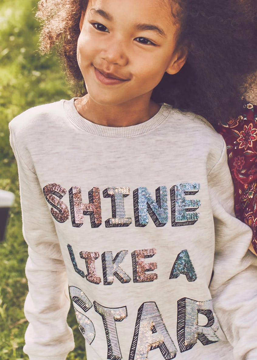Girls Star Sequin Sweatshirt (4-13yrs)
