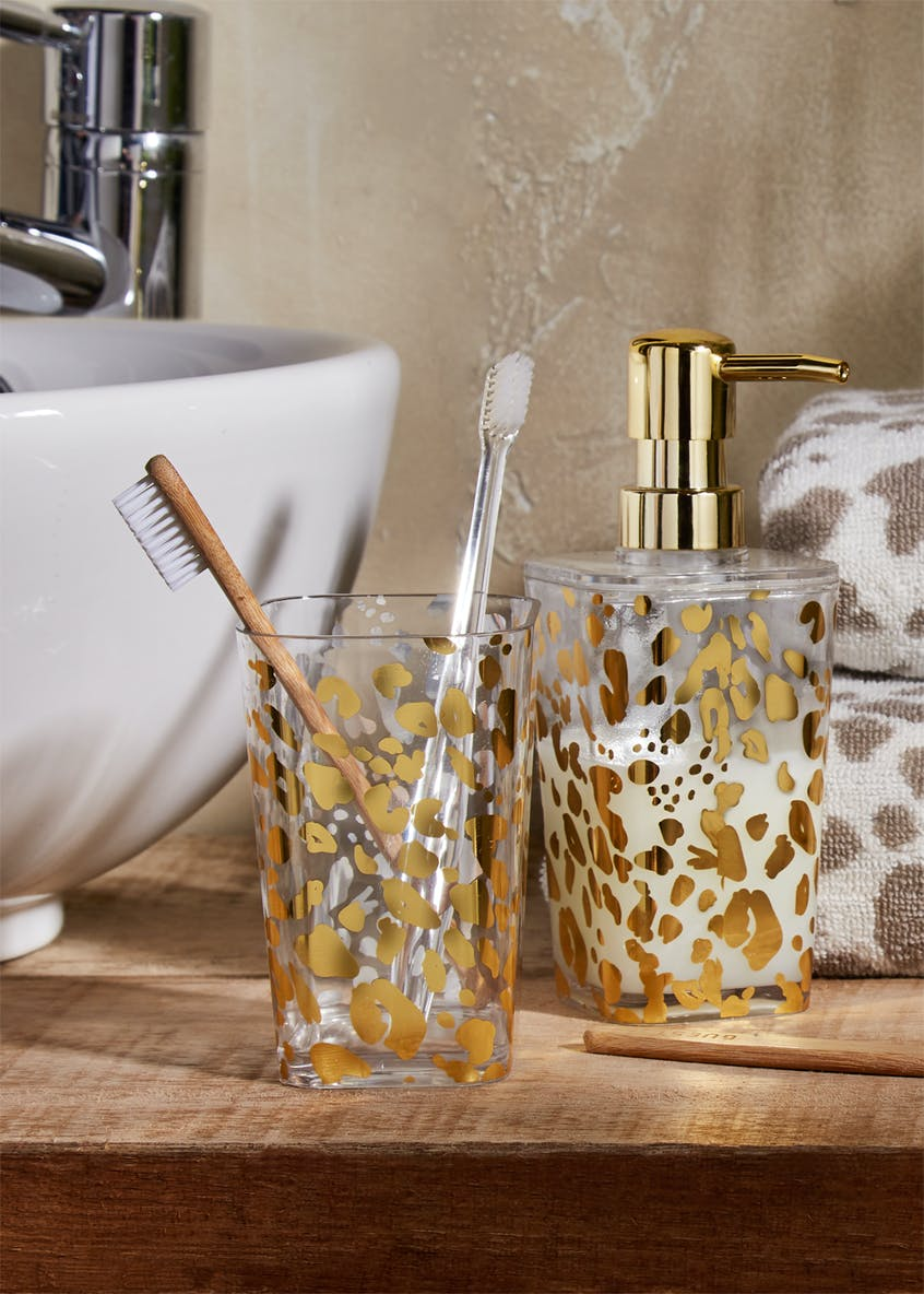 Leopard Print Soap Dispenser (17cm x 7cm x7cm)