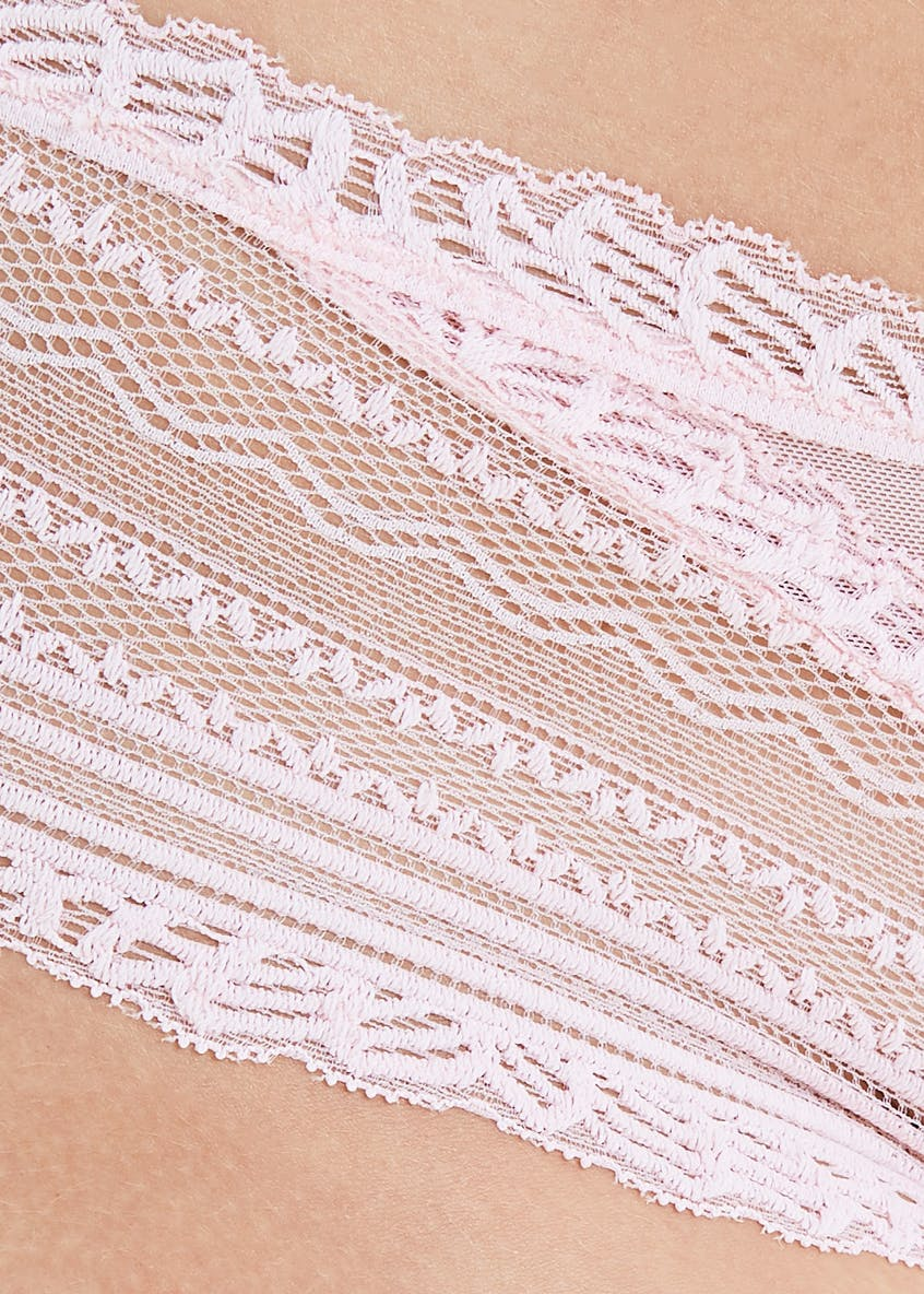 Lace Trim Brazilian Knickers