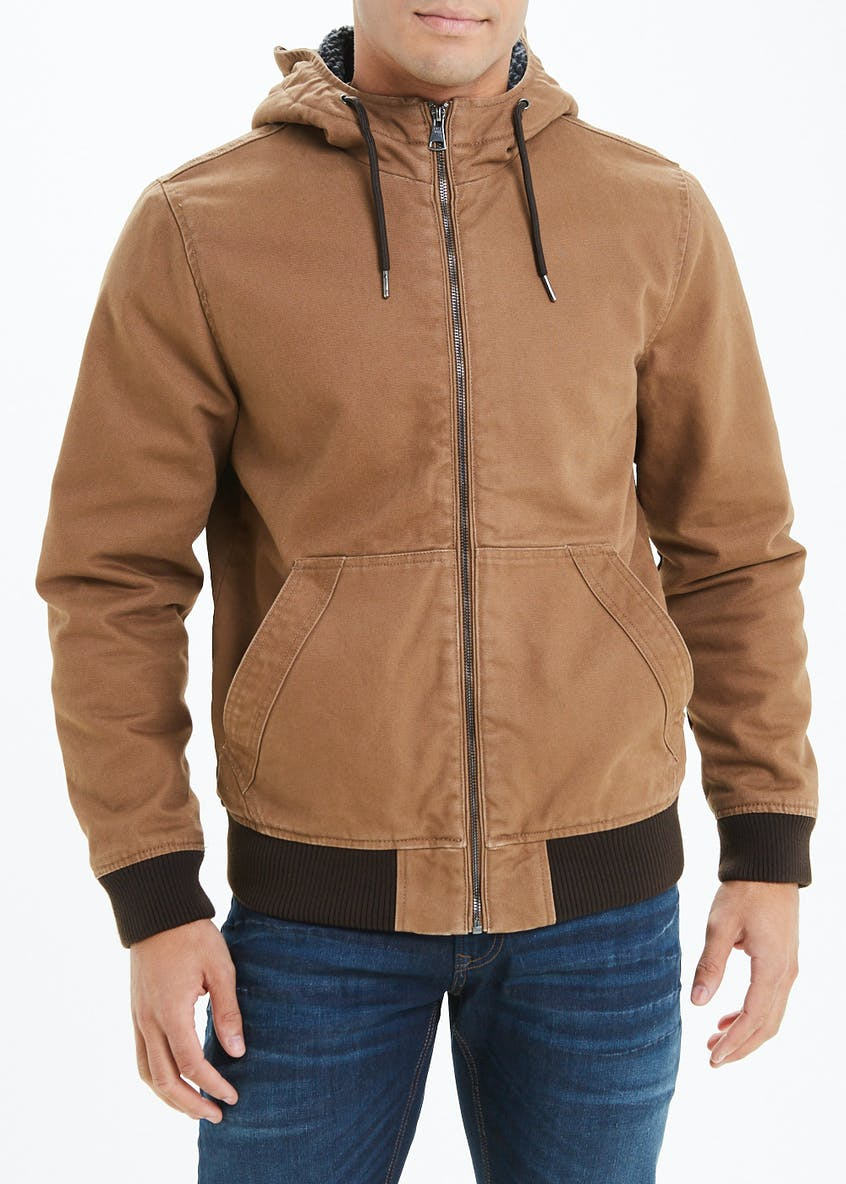 Borg Lined Hooded Coat