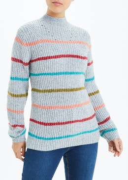 Funnel Neck Stripe Jumper