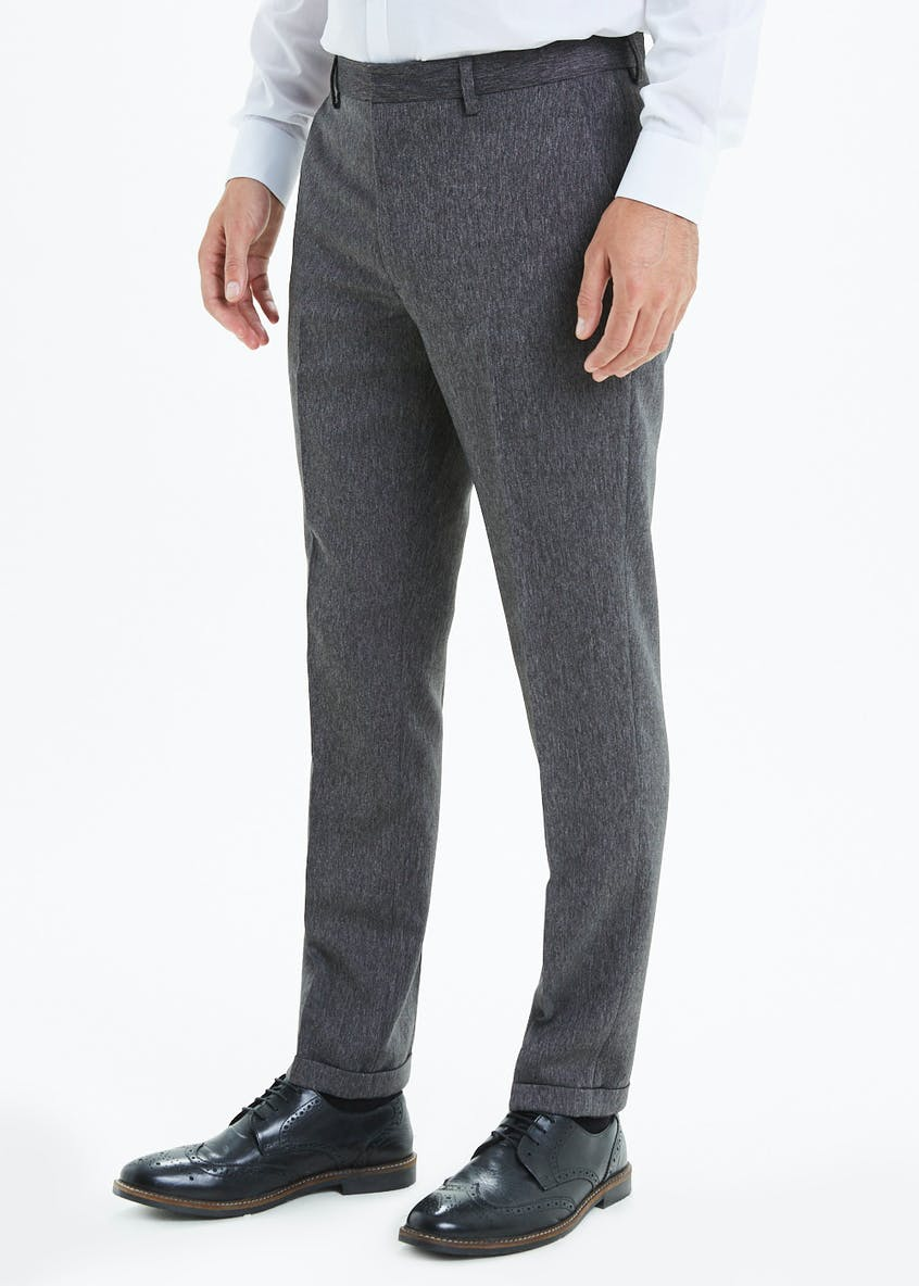 Slim Fit Grey Lorton Donegal Trousers