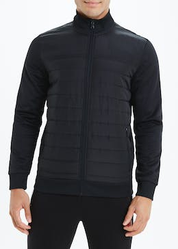 US Athletic Black Padded Bomber Jacket