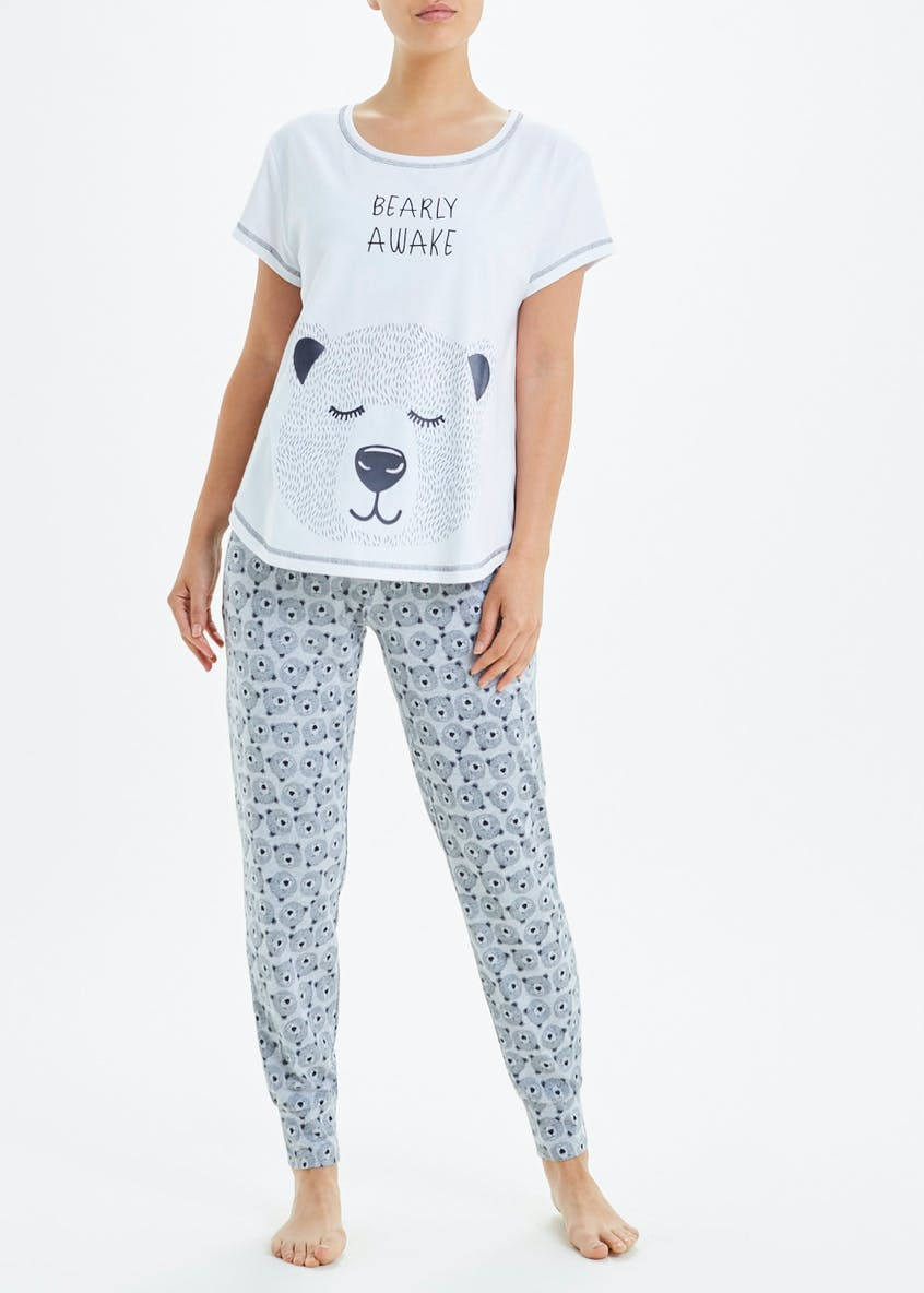 Slogan Bear Pyjama Set