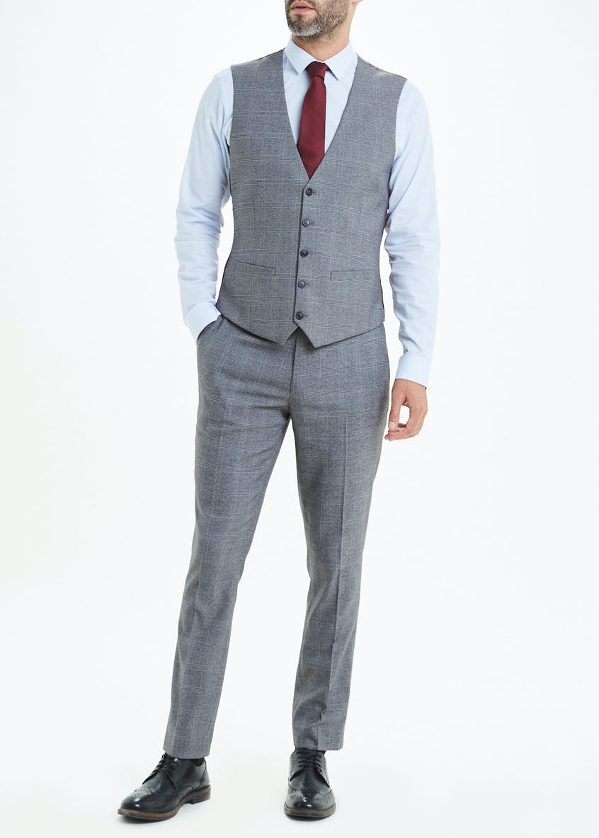 Taylor & Wright Rydal Skinny Fit Check Suit Waistcoat