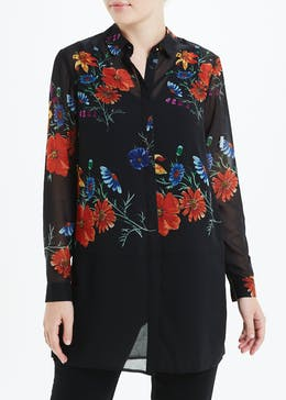 Soon Floral Longline Shirt
