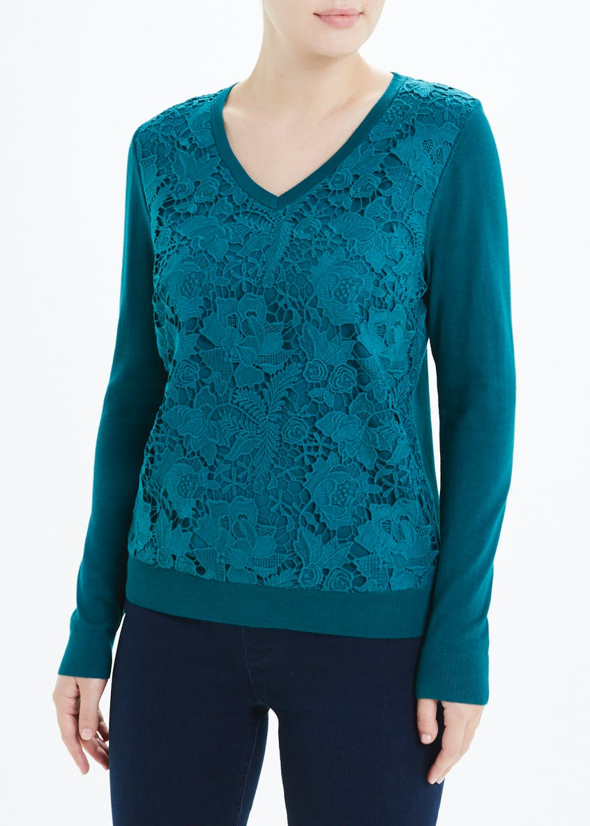 Soon Floral Lace Jumper