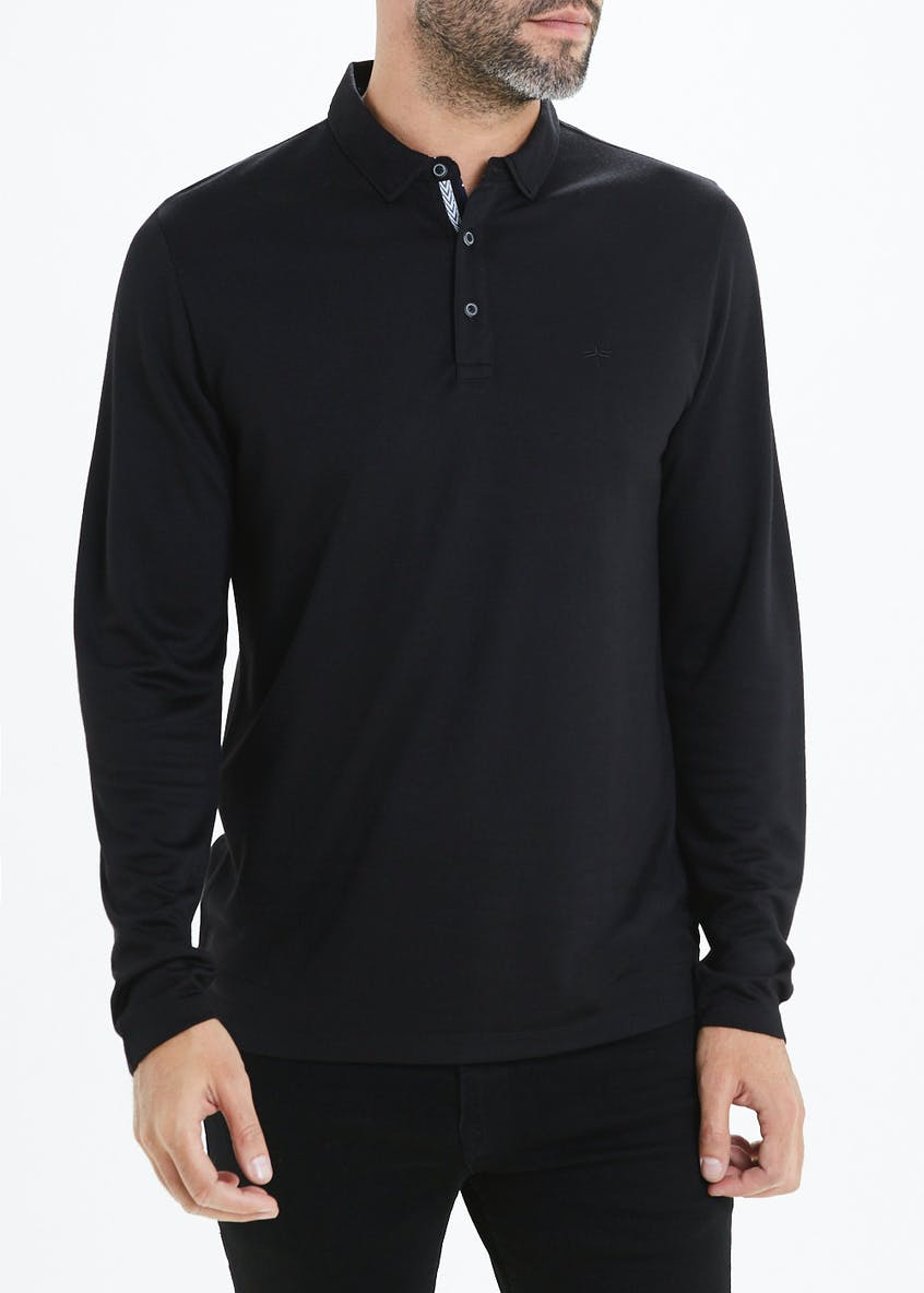 Easy Black Label Tipped Polo Shirt