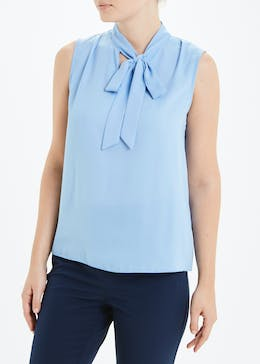 Sleeveless Pussybow Blouse