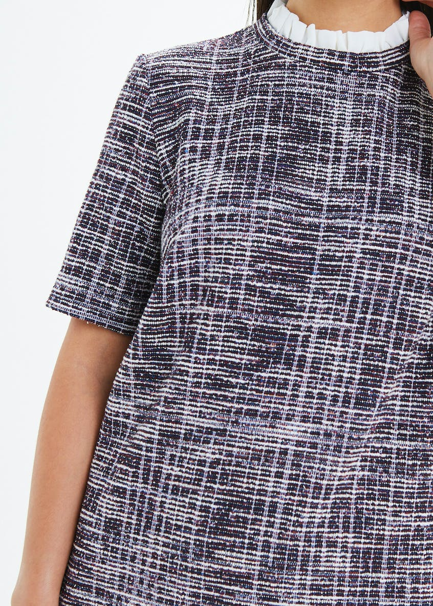 Textured Ponte Shift Dress