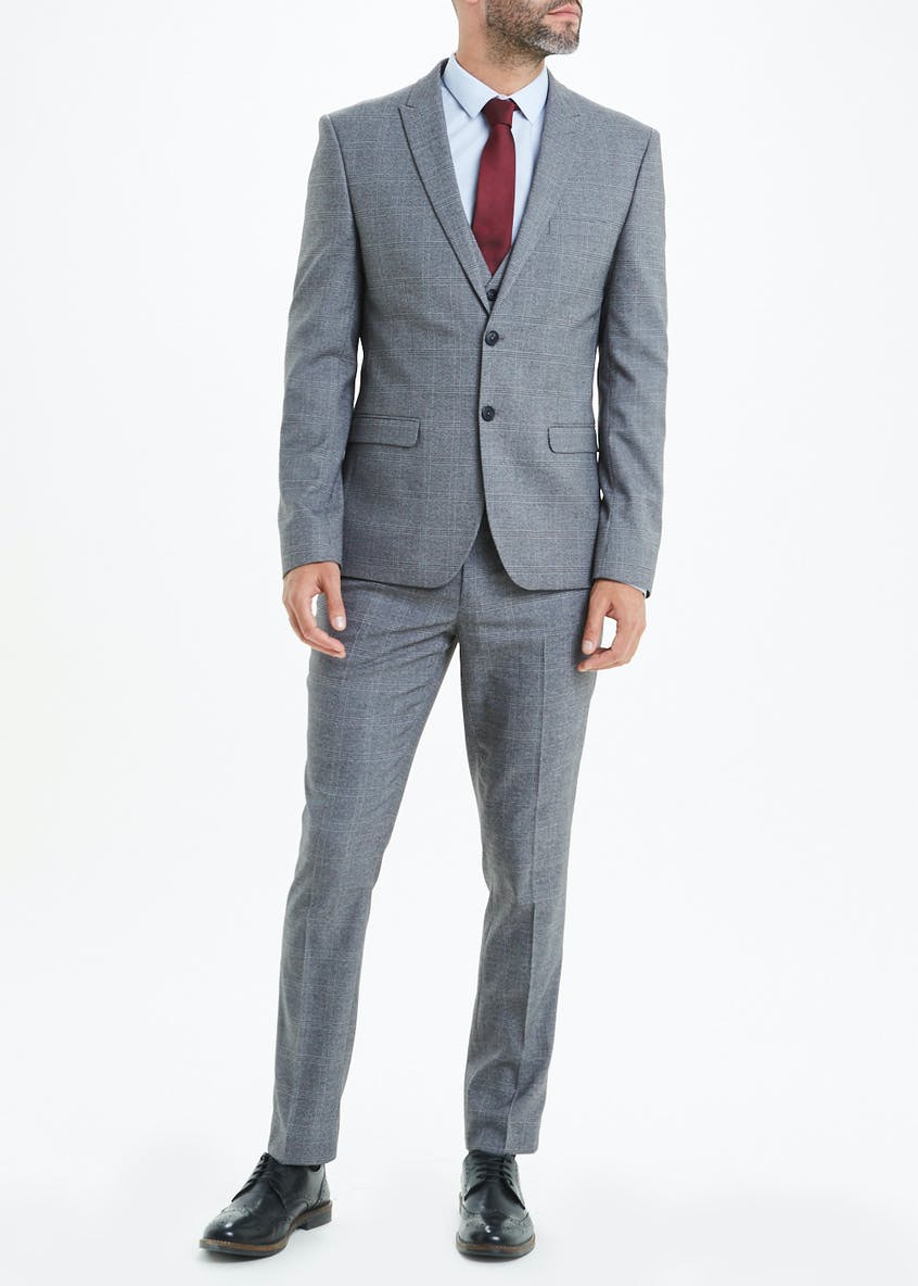 Rydal Skinny Fit Check Suit Trouser