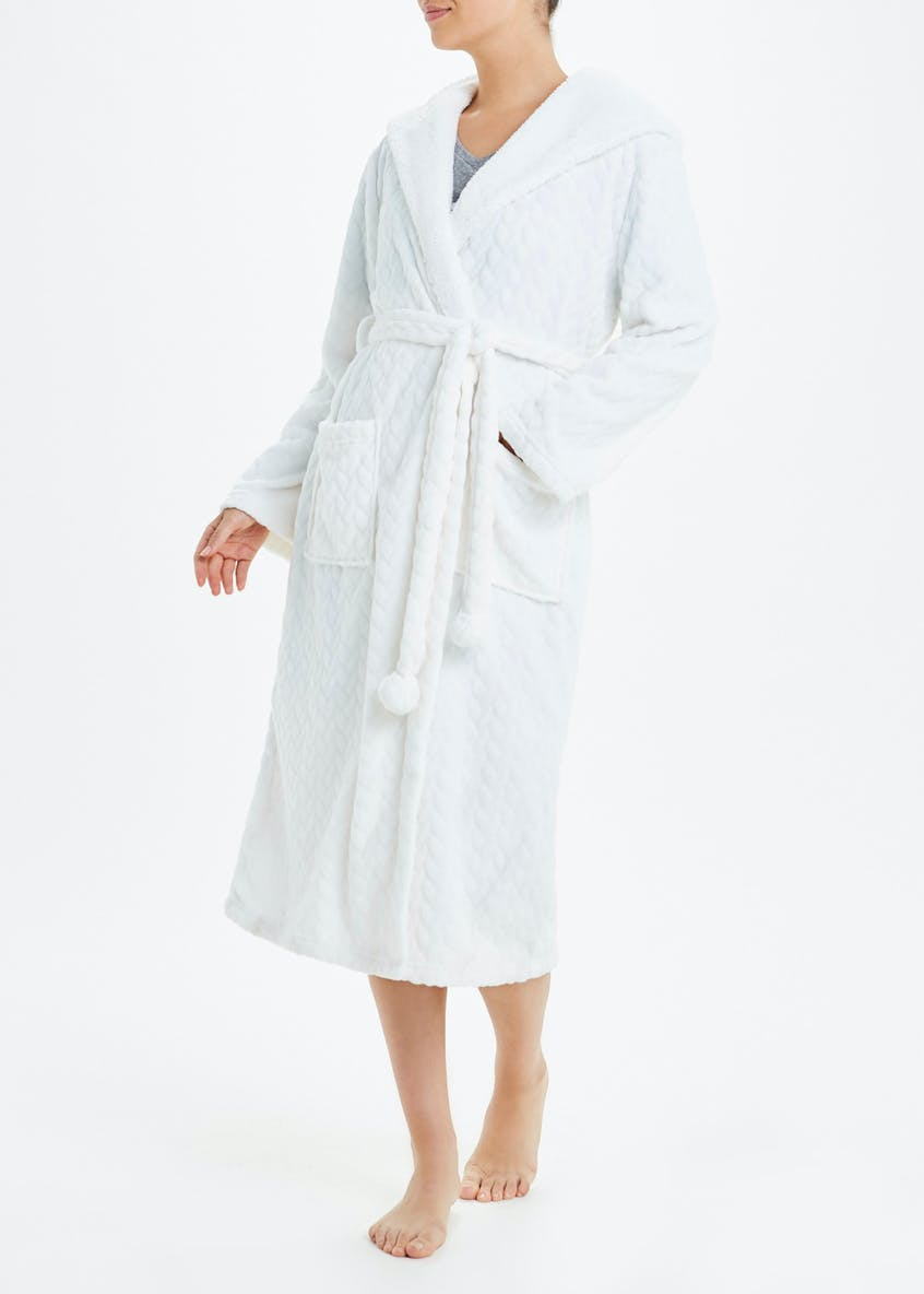 Jacquard Hooded Dressing Gown
