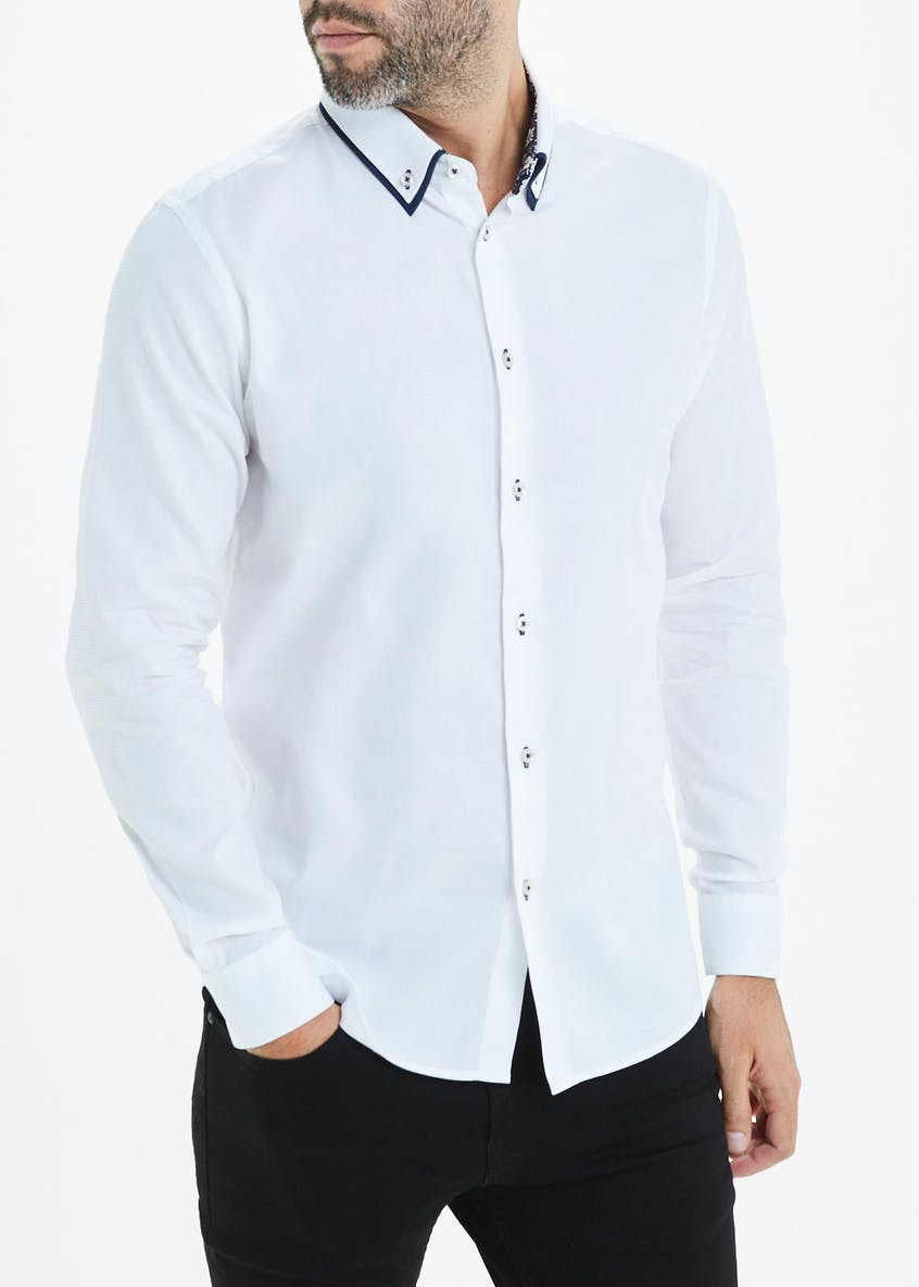 Easy Black Label Long Sleeve Slim Fit Shirt