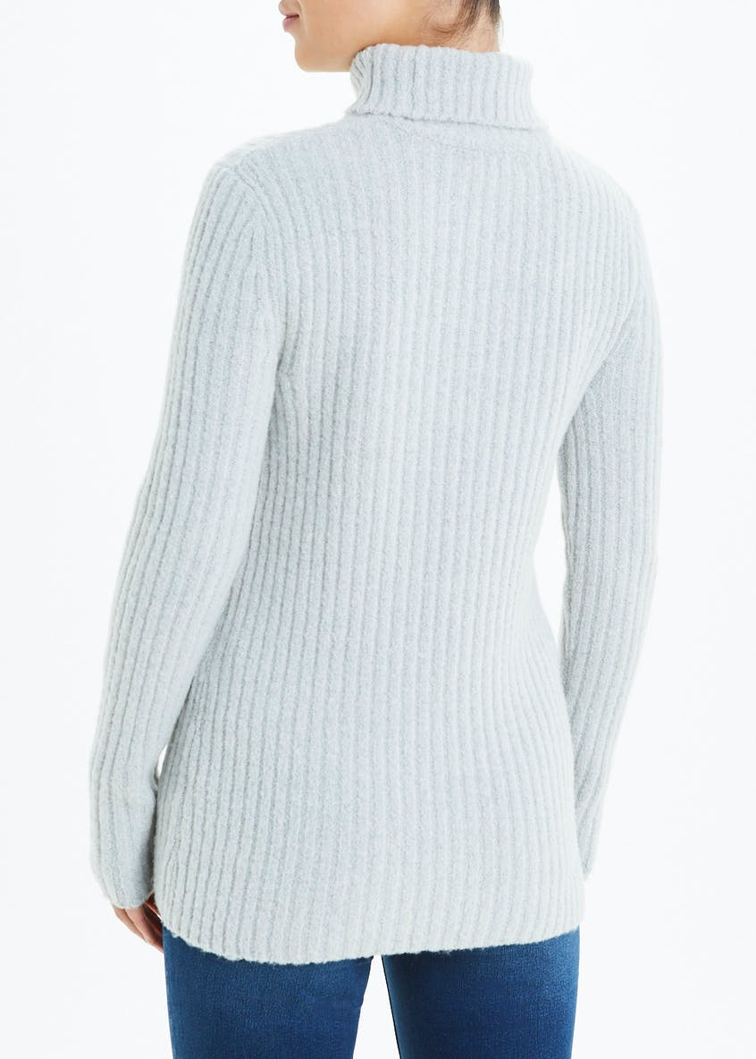 Chunky Ribbed Roll Neck Jumper