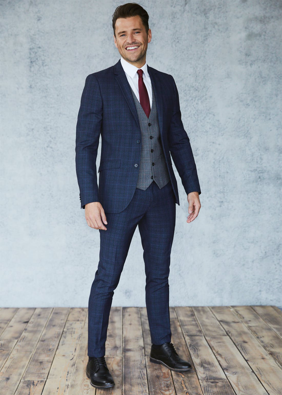 Taylor & Wright Keswick Slim Fit Check Suit Trousers