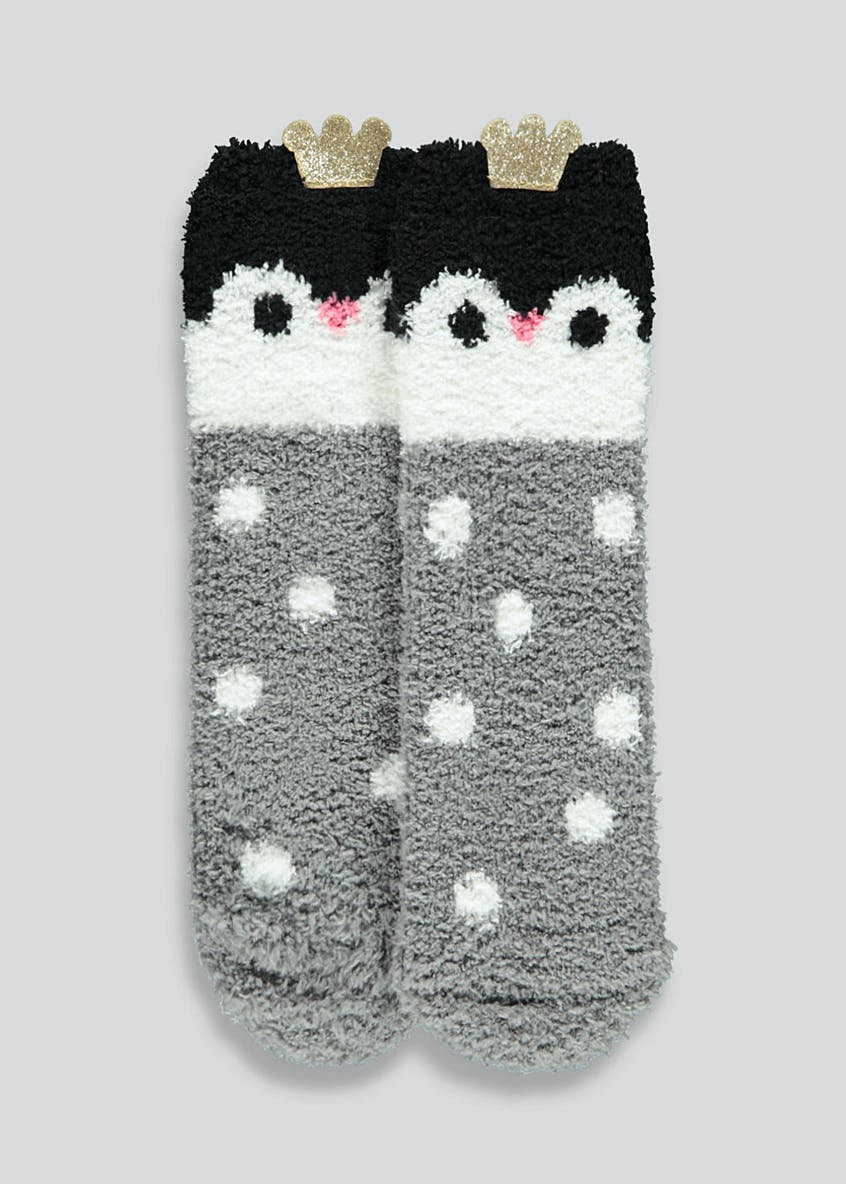 Kids Penguin Slipper Socks (Younger 4-Older 3.5)