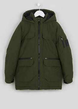 Boys Khaki Parka Coat (9-16yrs)