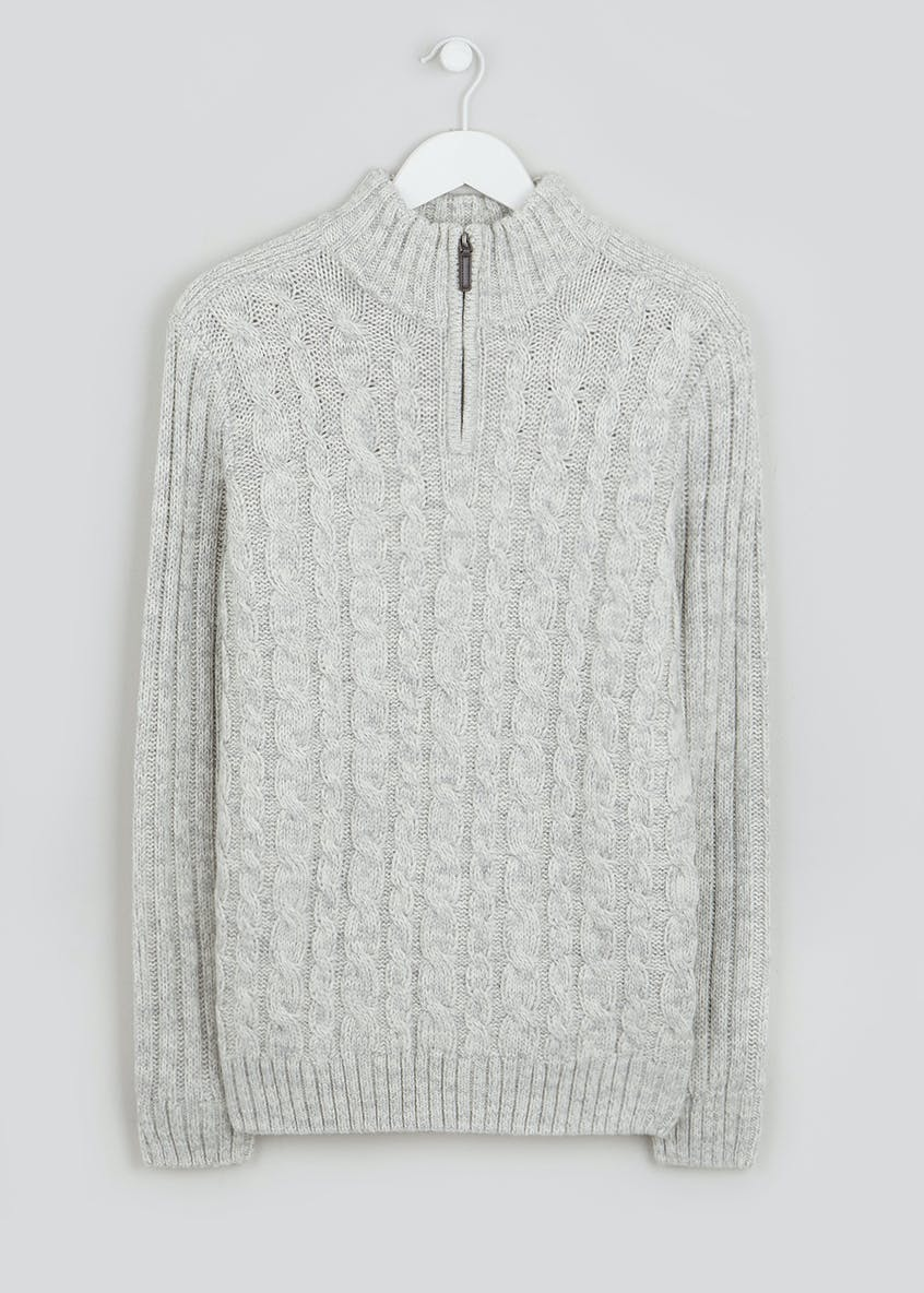 Cable Knit Half Zip Jumper