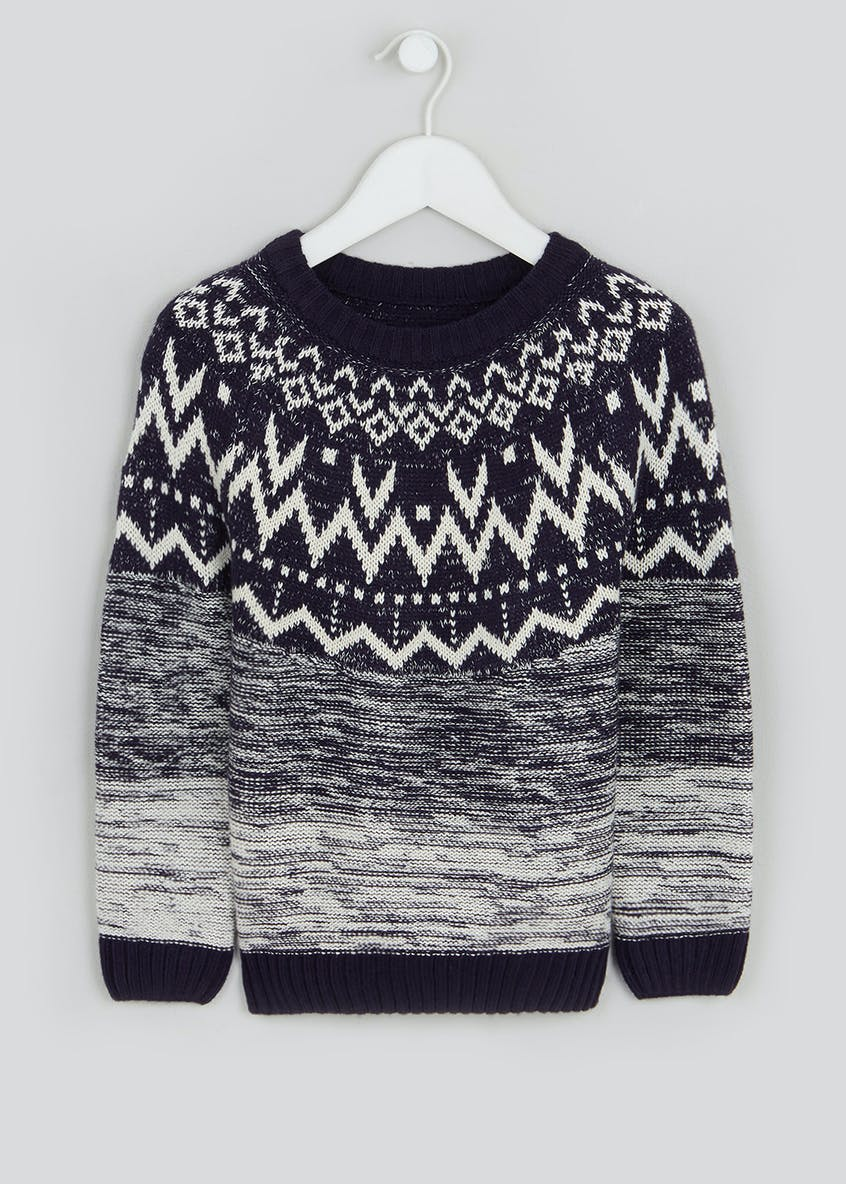 Boys Fair Isle Jumper (4-10yrs)