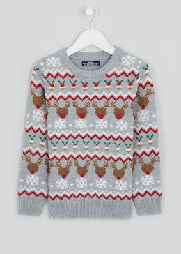Boys Christmas Fairisle Jumper (4-10yrs)