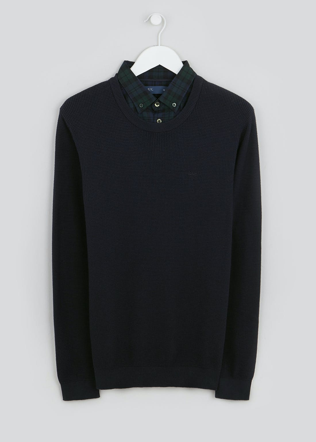 Big & Tall Mock Shirt Jumper