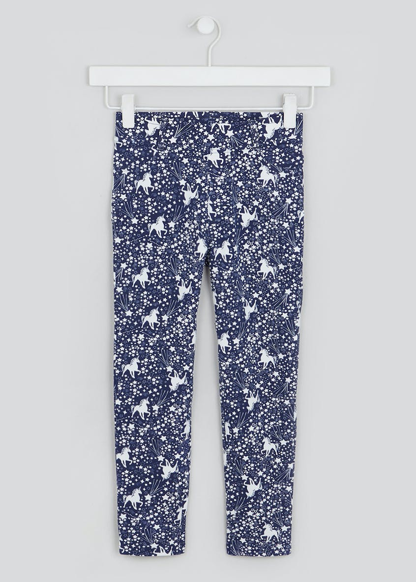 Girls Unicorn Star Leggings (4-13yrs)