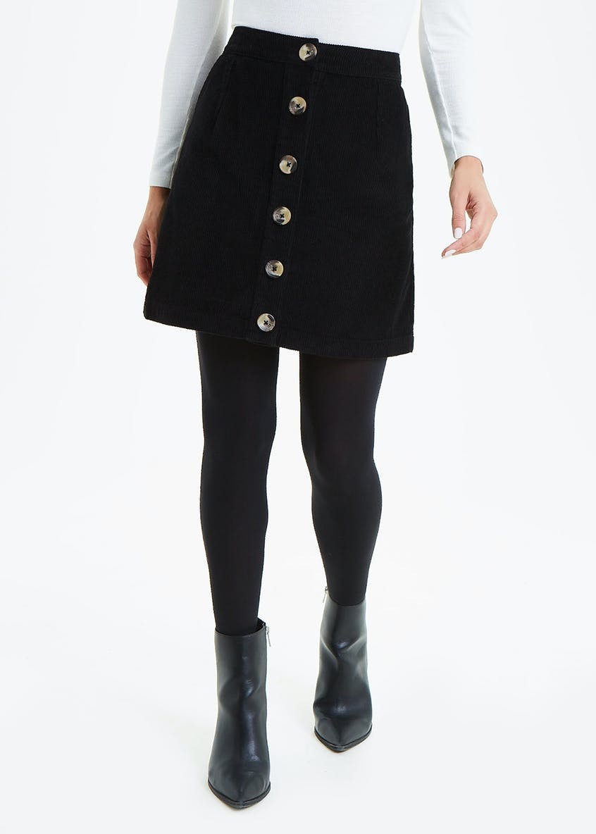 Button Through Cord Skirt