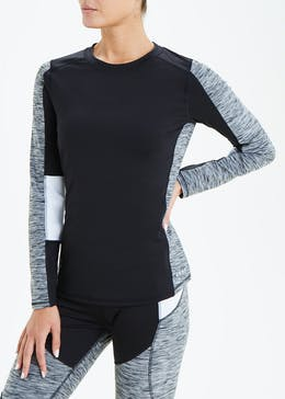Souluxe Panelled Long Sleeve Sports Top