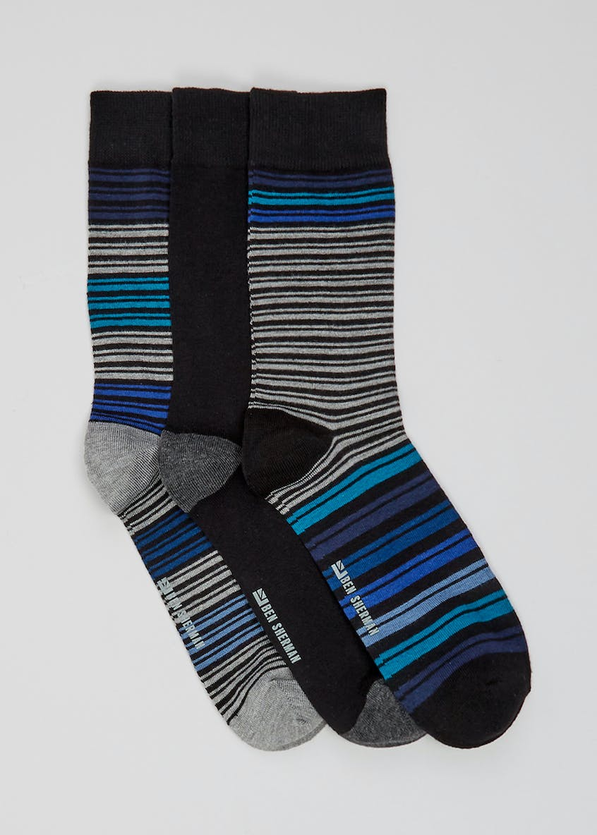 3 Pack Ben Sherman Stripe Socks