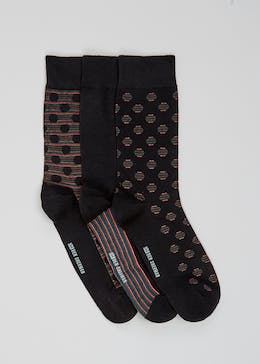 3 Pack Ben Sherman Spot Socks