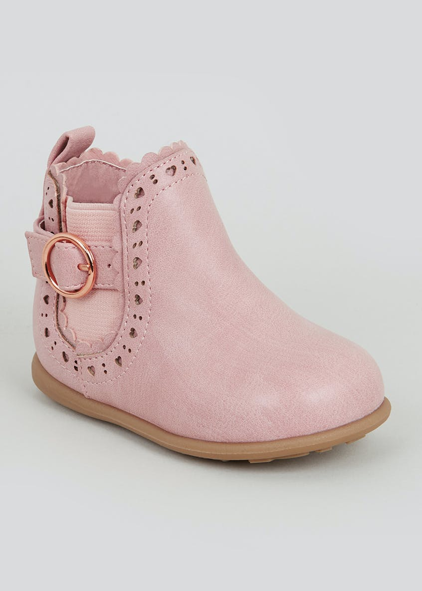 Girls 1st Walkers Buckle Chelsea Boots (Younger 3-7)