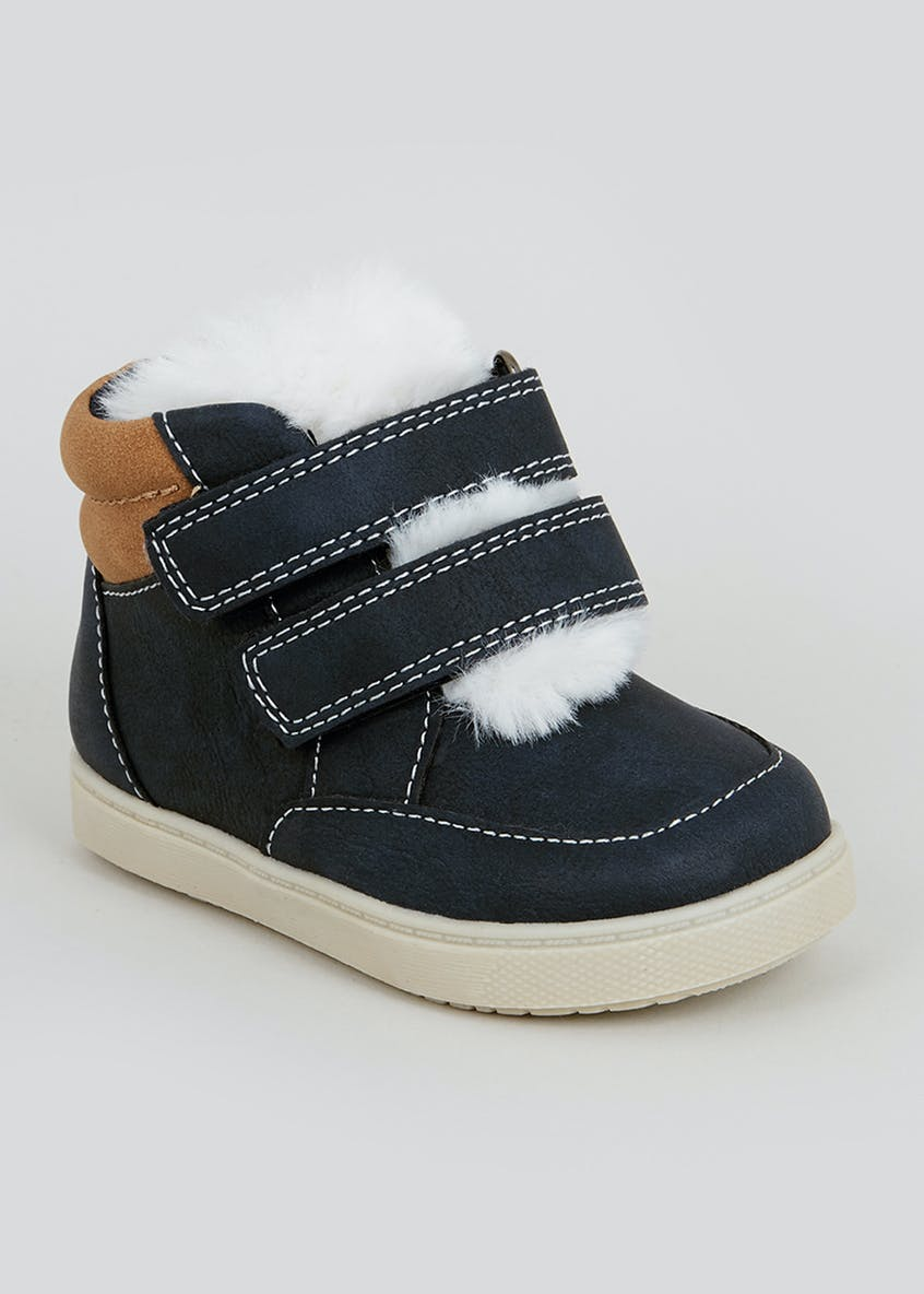 Boys 1st Walkers Navy Boots (Younger 3-7)