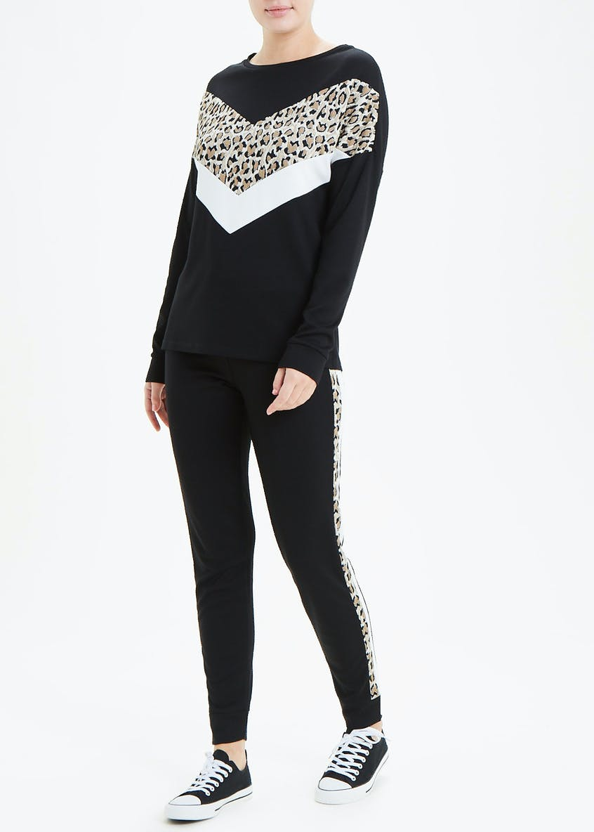 Animal Print Chevron Sweat