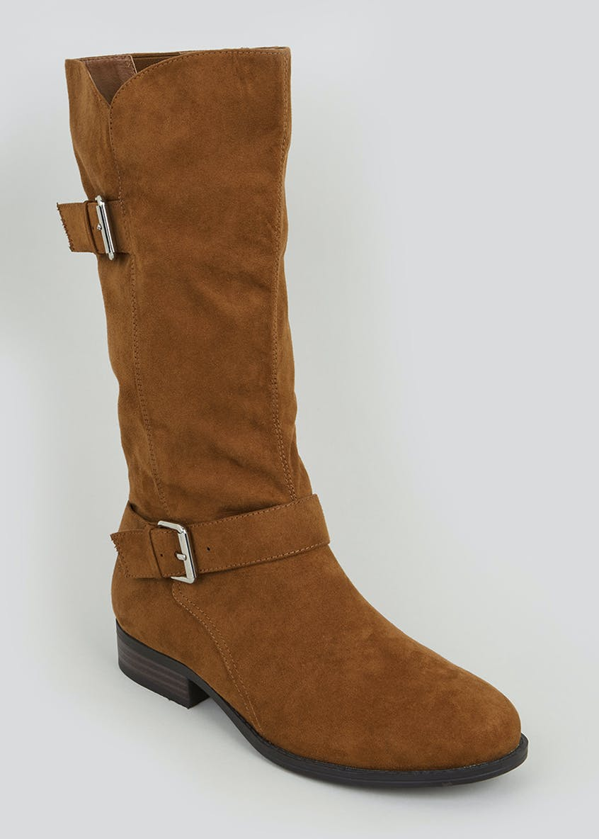Buckle Calf Boots