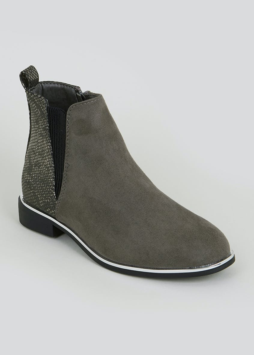 Girls Grey Chelsea Boots (Younger 10-Older 5)