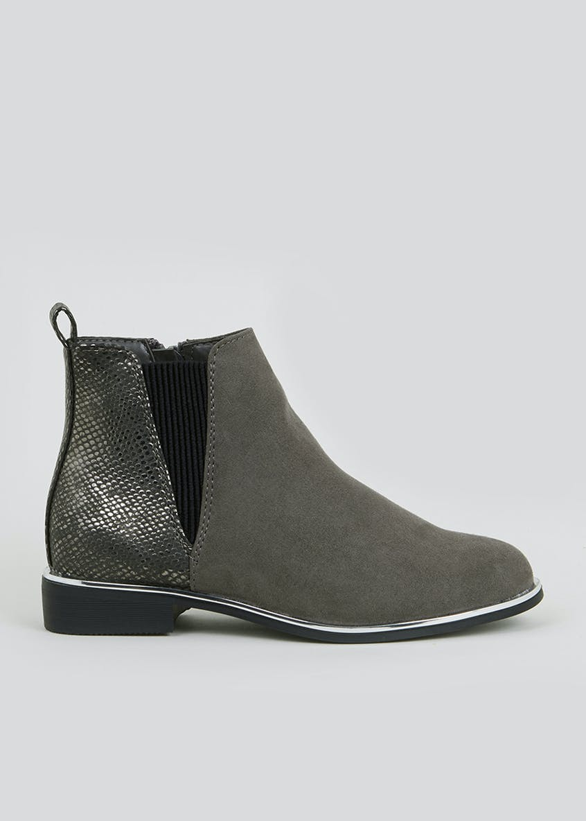 Girls Metal Detail Chelsea Boots (Younger 10-Older 5)